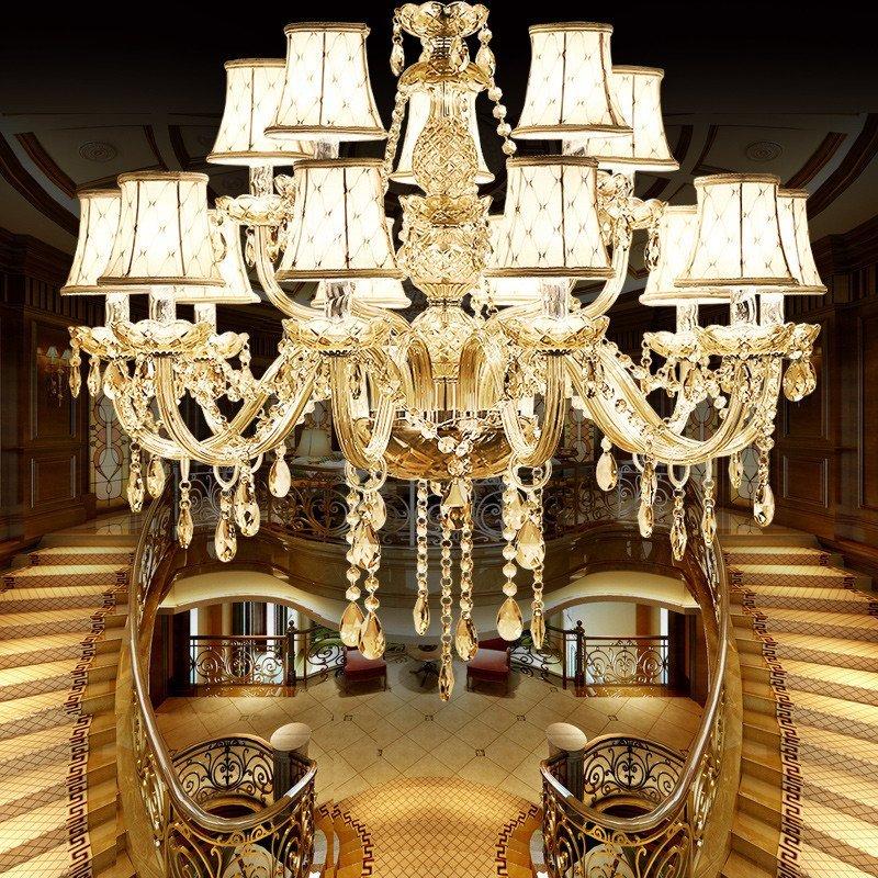 歐式水晶吊燈 客廳燈 現代簡約餐廳 臥室蠟燭水晶燈大廳燈具簡歐燈具