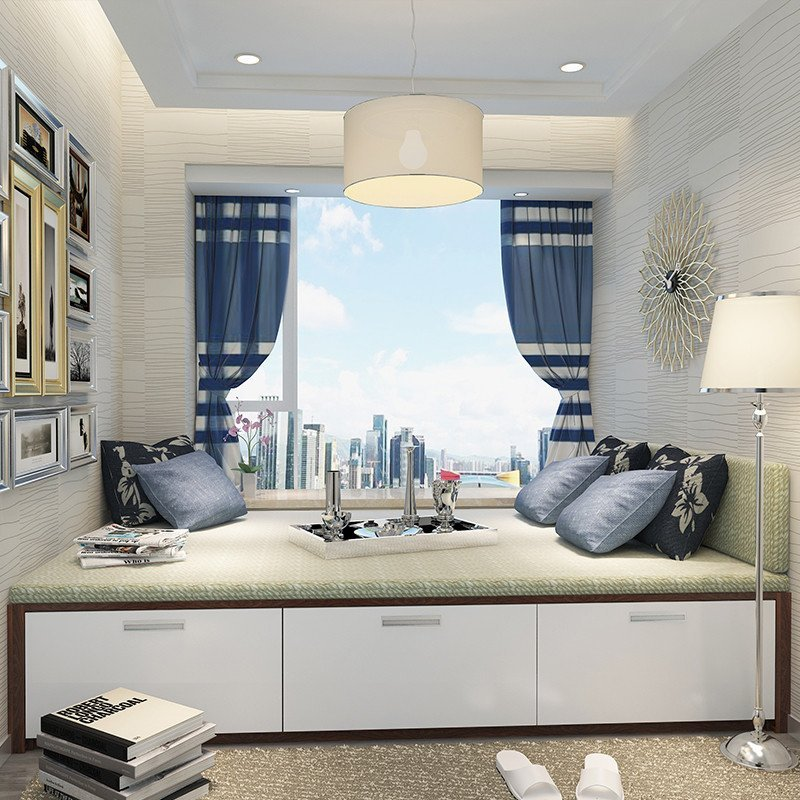 科凡卧室客厅房榻榻米定做飘窗柜转角塌塌米组合设计