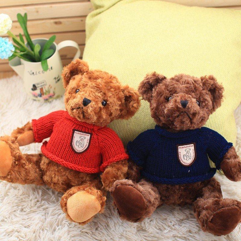 朵啦啦 三只毛衣泰迪熊 毛绒玩具大号布娃娃玩偶 生日礼物 女生 代写