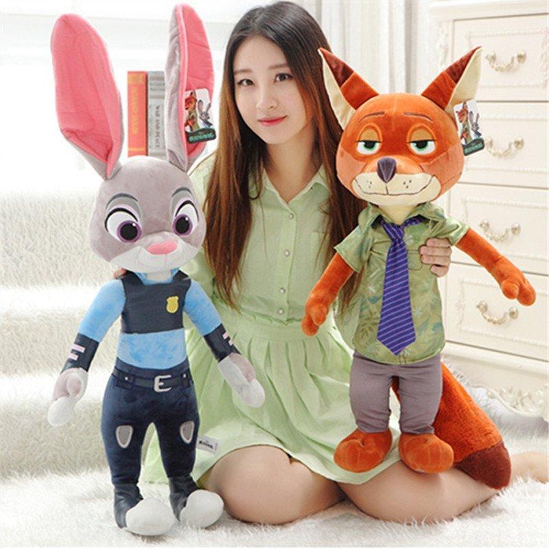疯狂动物城公仔毛绒玩具特大号娃娃狐狸尼克兔子朱迪女生生日礼品礼物