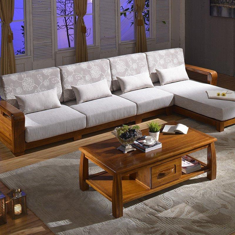 中式实木沙发组合