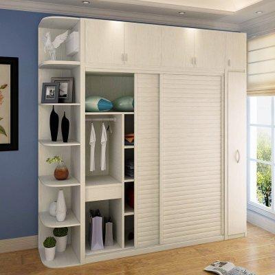 一合家具 卧室家具 定制衣柜 推拉门壁柜 移门整体衣橱 卧室衣柜组合