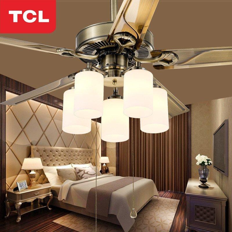 tcl风扇灯吊扇灯具 客厅简约现代卧室餐厅灯饰