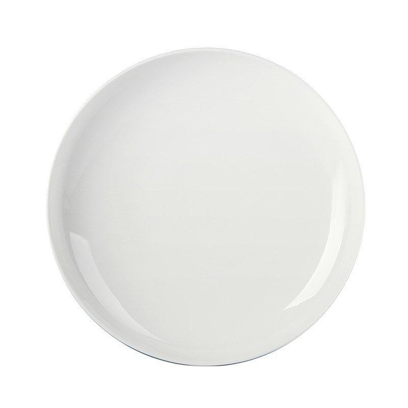 哲品zk餐具套装陶瓷家用景德镇白瓷圆脚碟碗圆形菜盘组合黑川雅之 256图片