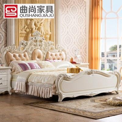 曲尚(qushang) 卧室家具 欧式床 欧式高箱床 田园公主