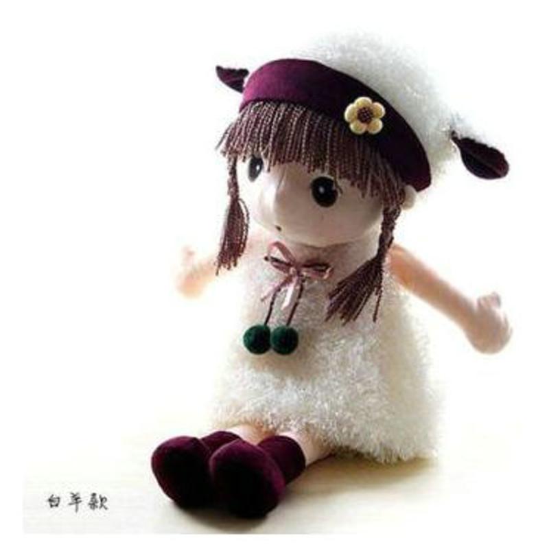 可爱卡通童话菲儿公主布娃娃儿童玩具公仔洋娃娃创意生日礼物玩偶女孩