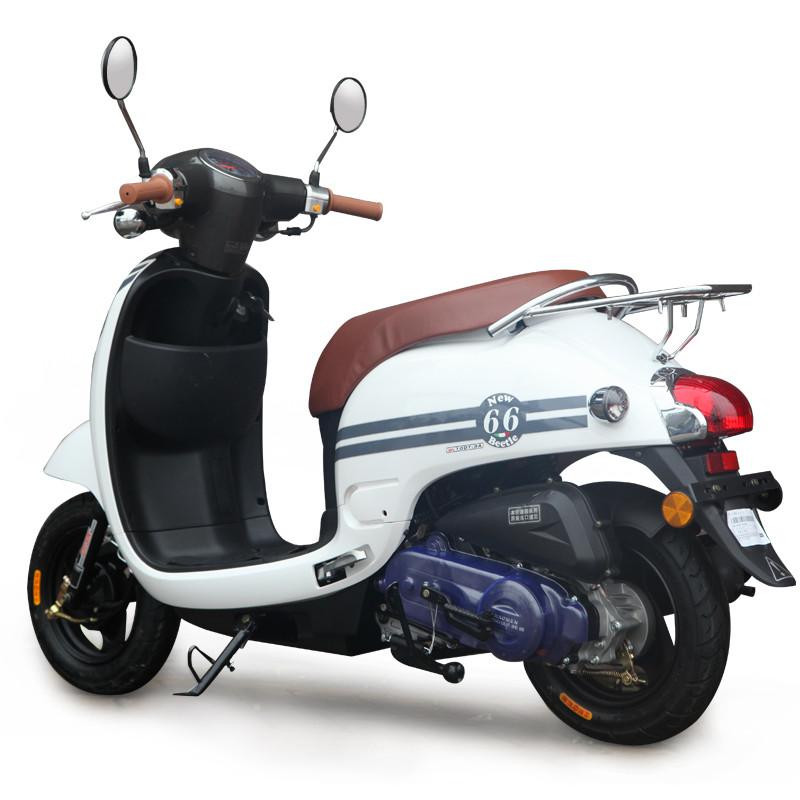 望江铃木小龟王摩托踏板车125燃油男女助力车迅鹰鬼火摩托可上牌 白色