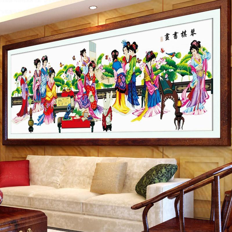 客厅十字绣图案新款红楼梦