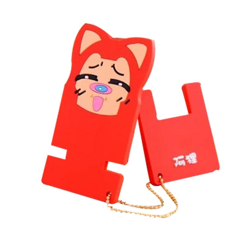 韩国卡通懒人手机座 橡胶动物可爱手机支架 手机通用桌面支架高清实拍