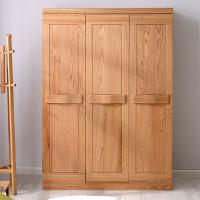 光明家具全实木衣柜简约现代三门红橡木北欧谷珀家具造假图片