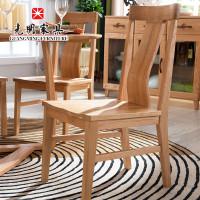 光明家具北欧简约全实木餐椅座椅美国进口红开业家具厂了图片