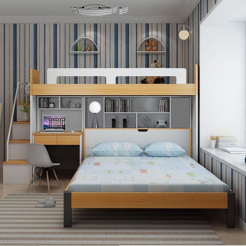 多功能高低床子母床儿童成人上下床双层床带衣柜母子组合床高架床 1.