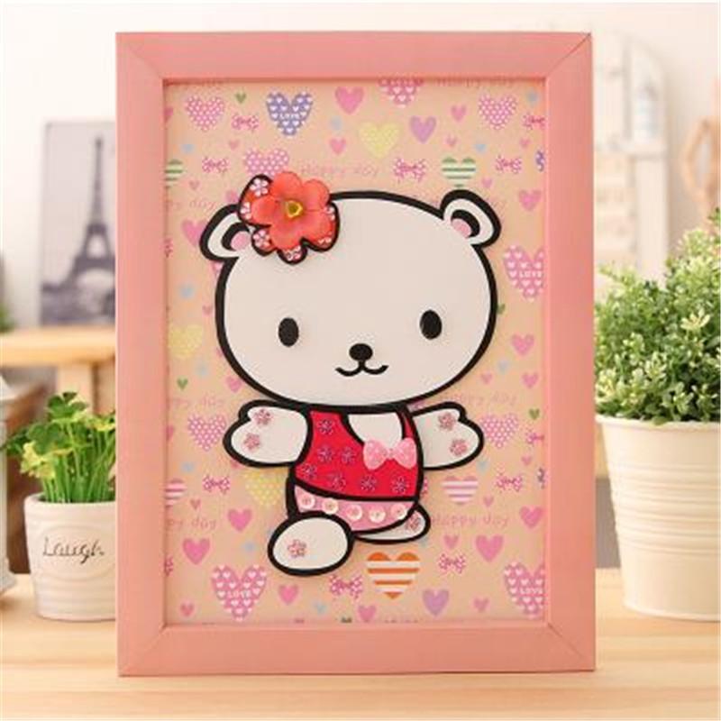 动物卡通贴画 儿童手工小羊创意制作立体贴相框拼图 小羊