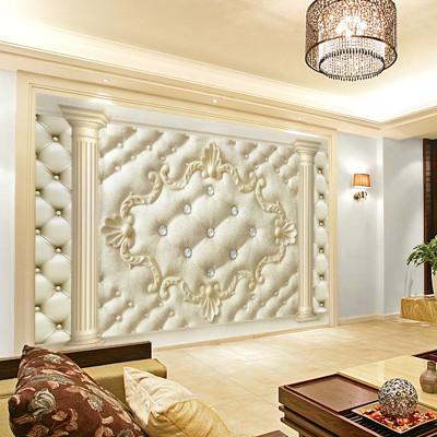 卡茵 韵彩 欧式软包客厅电视背景墙壁画 无缝创意影视