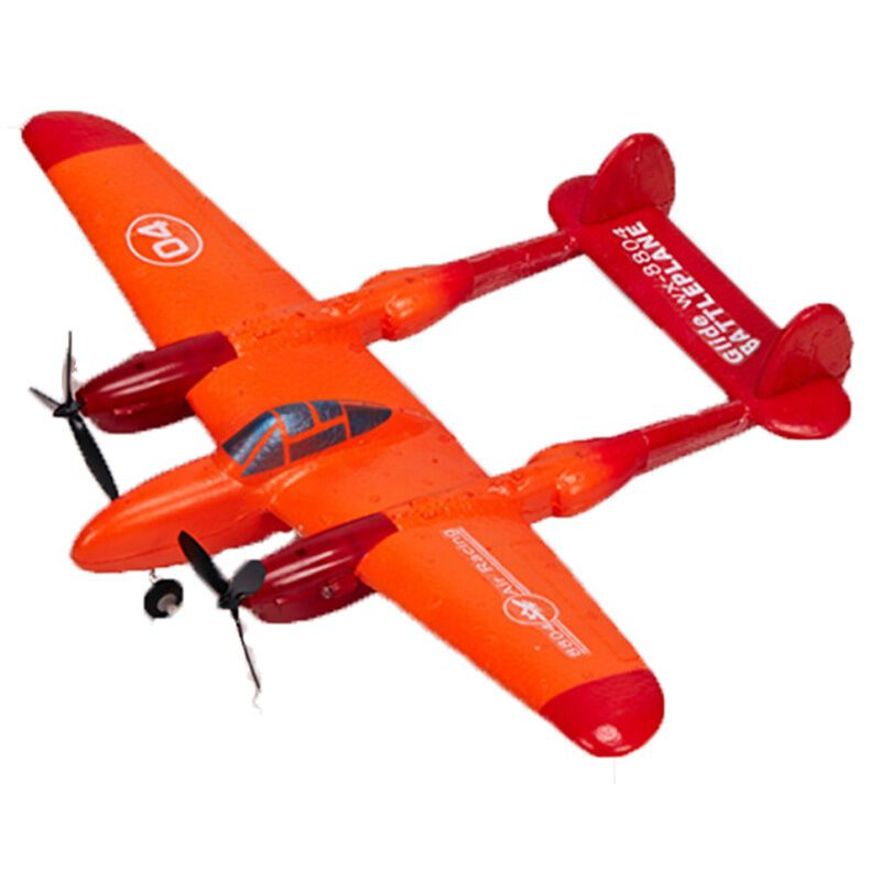 奕坤 航模滑翔机 两通道遥控飞机航模飞机 滑翔机 橙色高清实拍图
