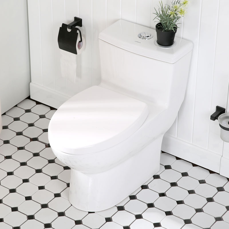 九牧 节水防臭抽水马桶虹吸式坐便器座便器坐厕11185