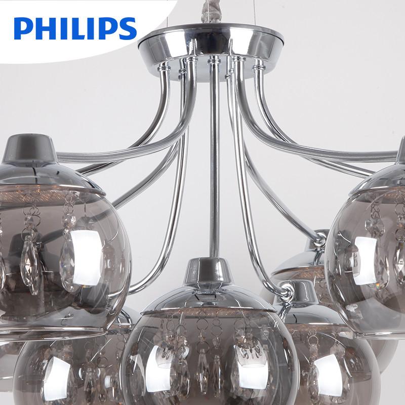 飞利浦led吊灯 灯具灯饰简约客厅卧室餐厅灯朝露大气水晶灯