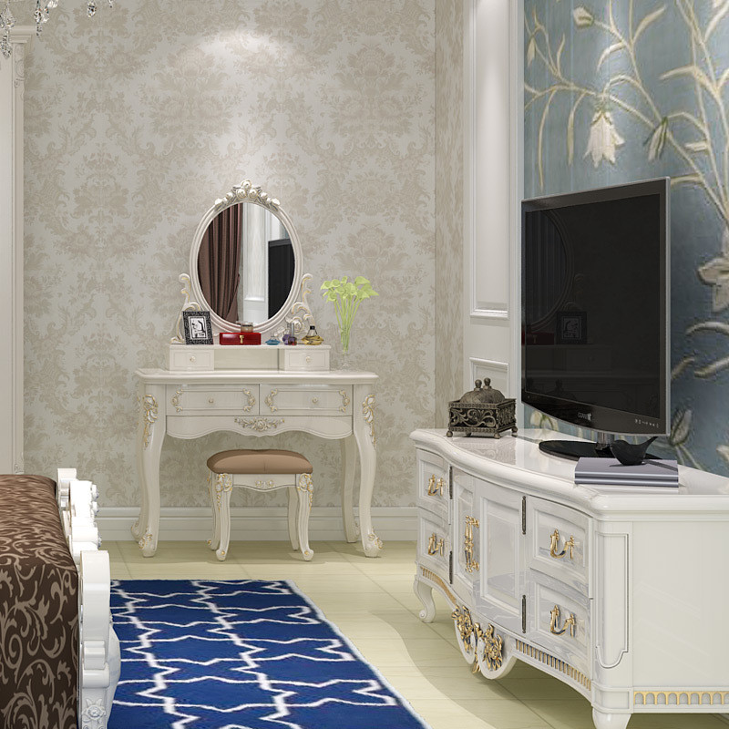 一米爱 欧式梳妆台卧室影楼简约小户型田园法式公主化妆桌 卧室148403