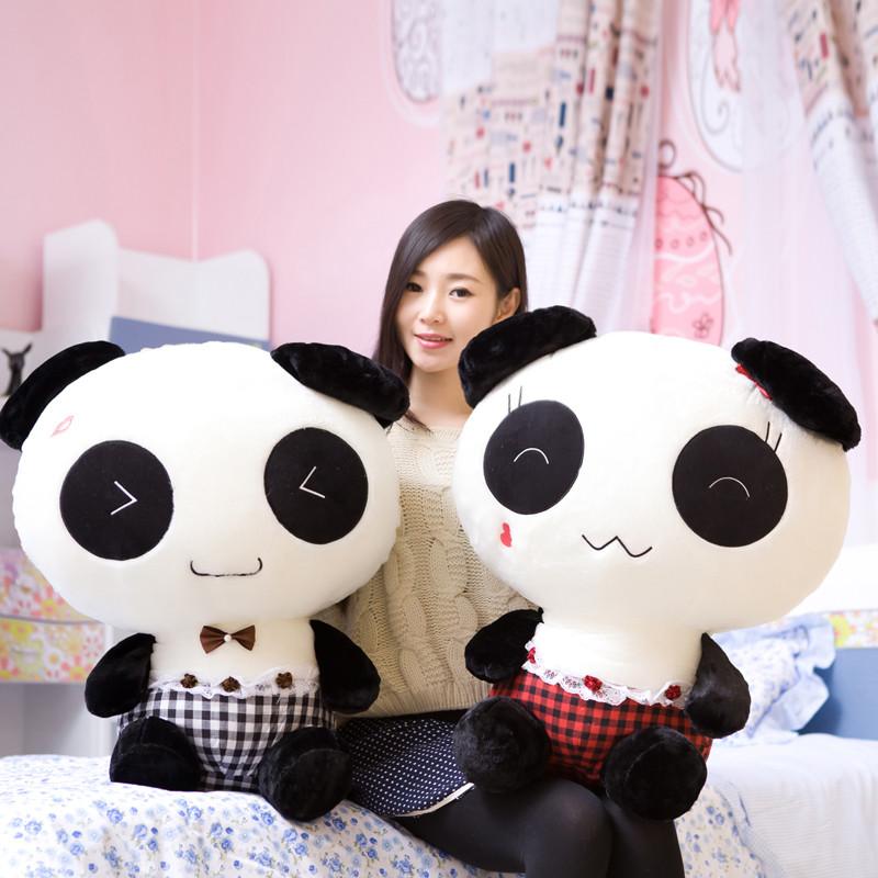 大号可爱熊猫公仔穿衣熊猫玩具泰迪熊玩偶 抱抱熊 孩子女生礼物_7_8