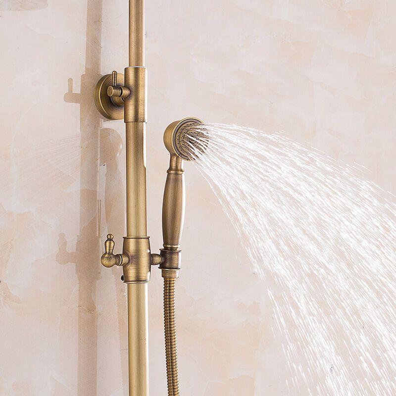 朗派全铜仿古淋雨花洒套装欧式复古淋浴器大花洒喷头 a款图片