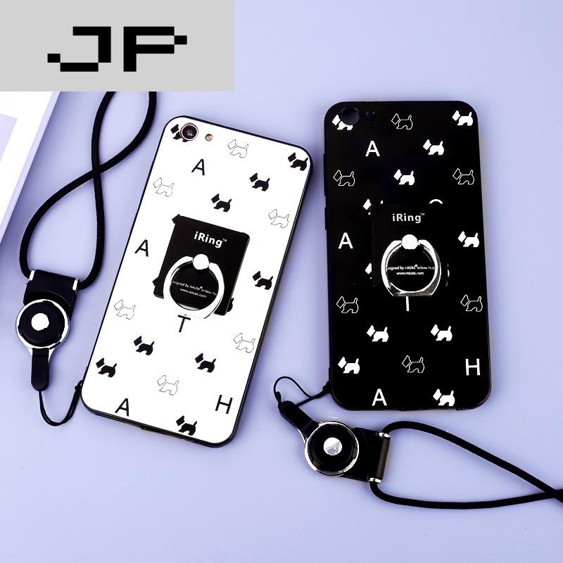 jp潮流品牌vivox7手机壳 vivo x7plus保护套硅胶软防摔支架挂绳男女款