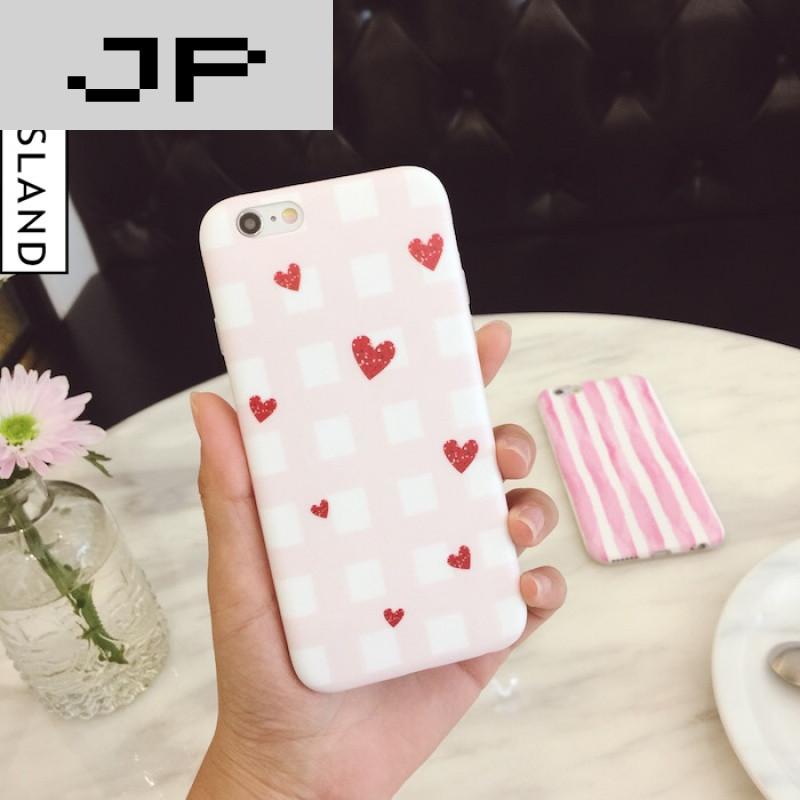 JP粉色潮流屏幕小a粉色iphone66s手机壳苹果格手机录制日韩品牌图片
