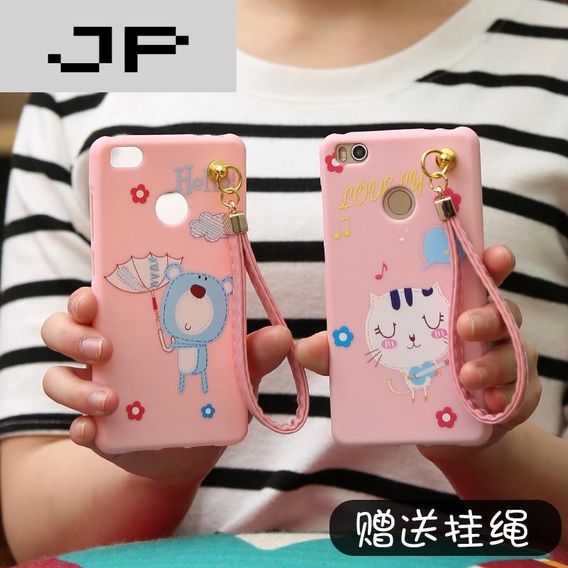 品牌小米4s手机壳挂绳女款 米4s手机套硅胶软防摔保护套卡通可爱创意