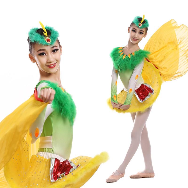 六一儿童节演出服儿童舞蹈服装小荷风采快乐的布谷动物鸟小鸟小鸡 170