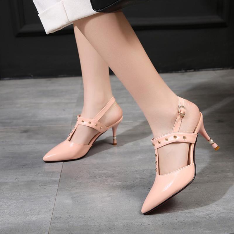 裸粉色单鞋