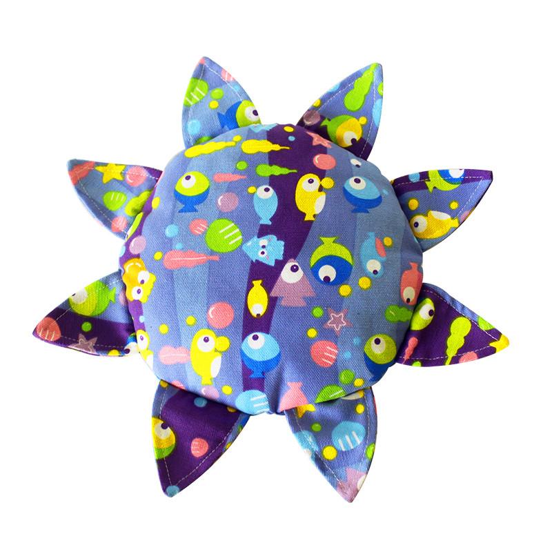 手工制作儿童安全软飞盘 幼儿园户外教学运动布艺飞碟亲子互动玩具
