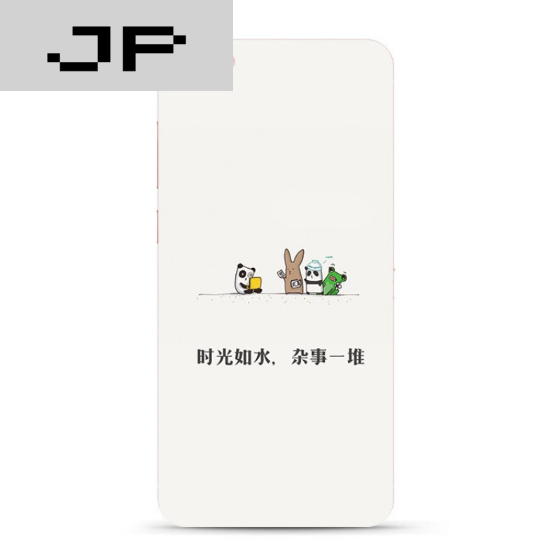 jp潮流品牌可爱卡通小动物文字步步高vivoxplay6 5 y66 67手机壳软壳