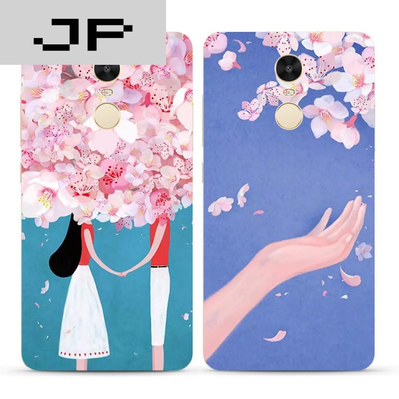 jp潮流品牌浪漫唯美手绘插画红米3s note4x 3 4a pro手机壳全包软壳防
