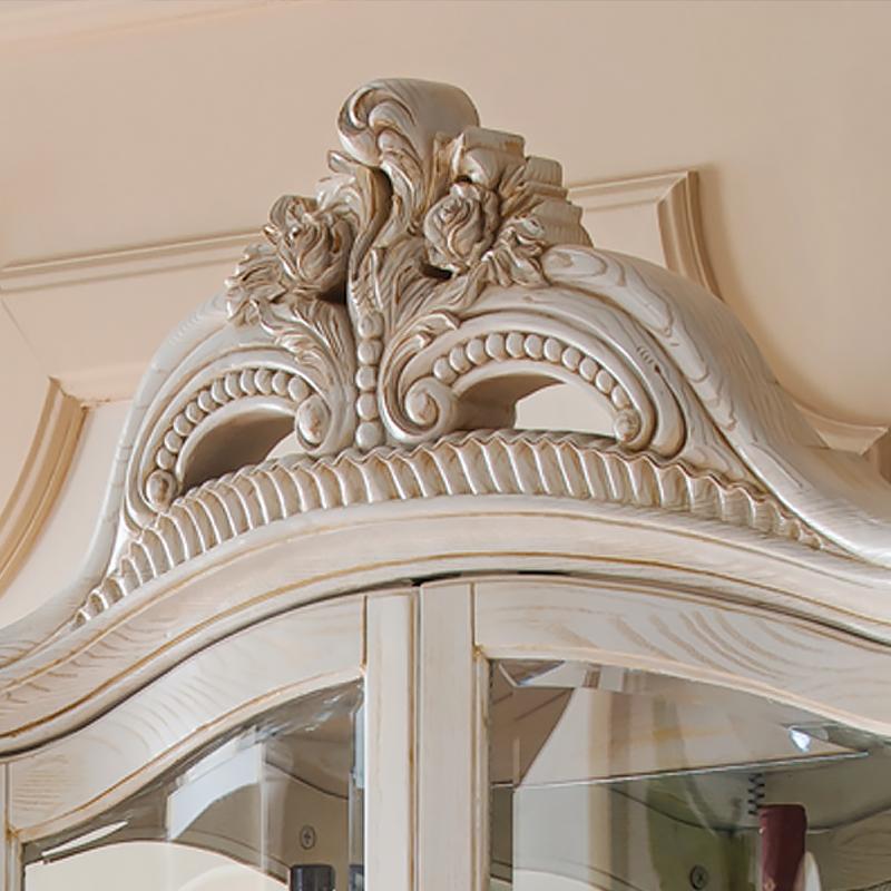 千住明实木酒柜 欧式客厅装饰柜单门玻璃展示柜陈列柜 餐边储物柜 ff9