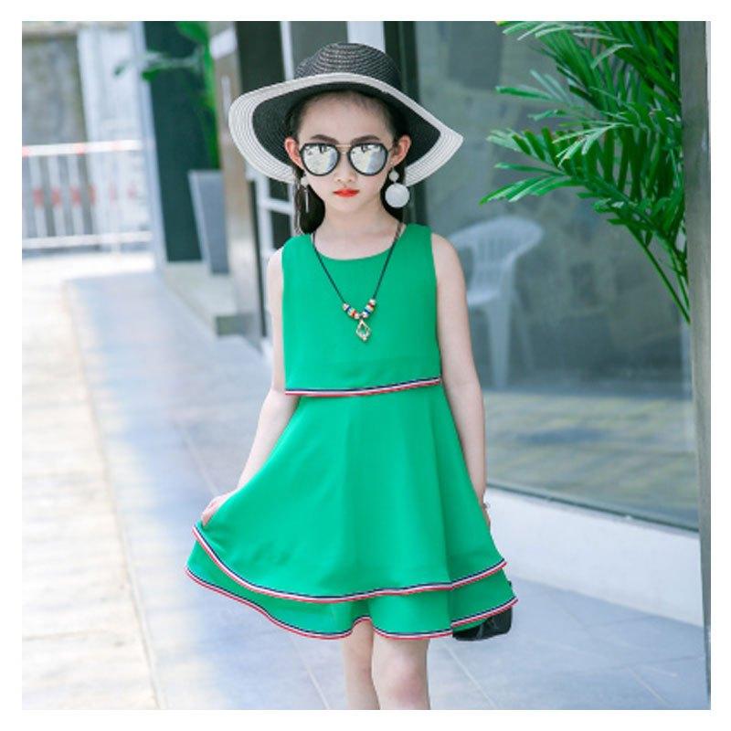 童儿童公主裙小女孩韩版雪纺裙子简约小清新多款多色可选可爱连衣裙