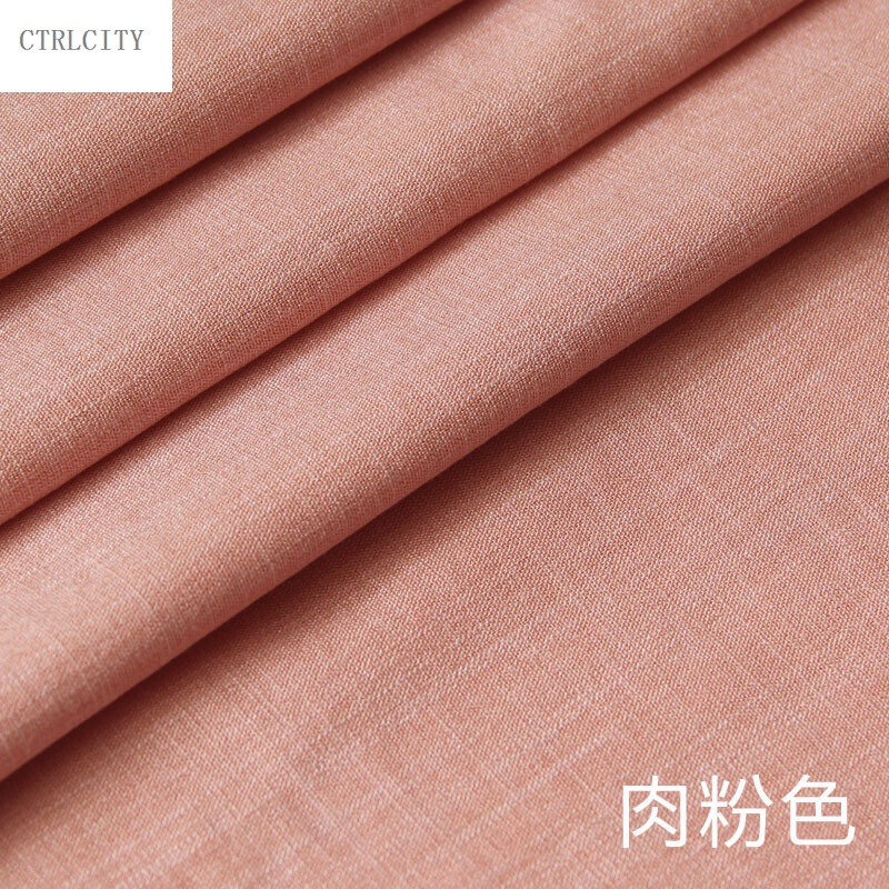 ctrlcity亚麻布料服装面料纯色麻布薄透气苎麻夏季连衣裙裤子棉麻布料