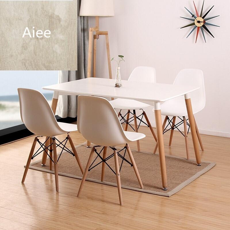 aiee北欧现代小户型用餐桌椅长方形餐桌现代简约创意多功能洽谈桌1.图片