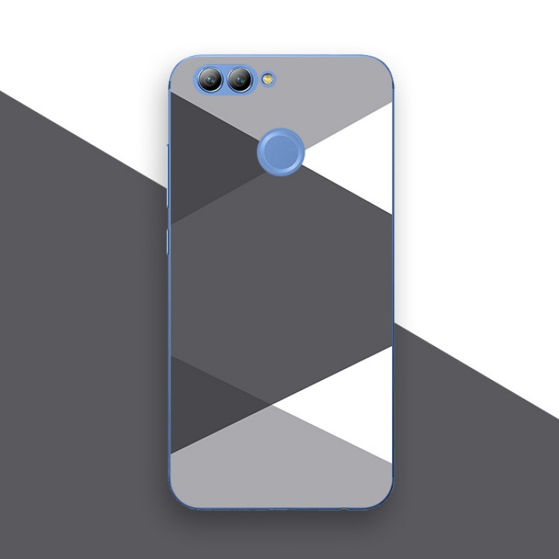 2017款华为nova2plus华为nova青春版手机壳保护套文艺灰色块简约小图片