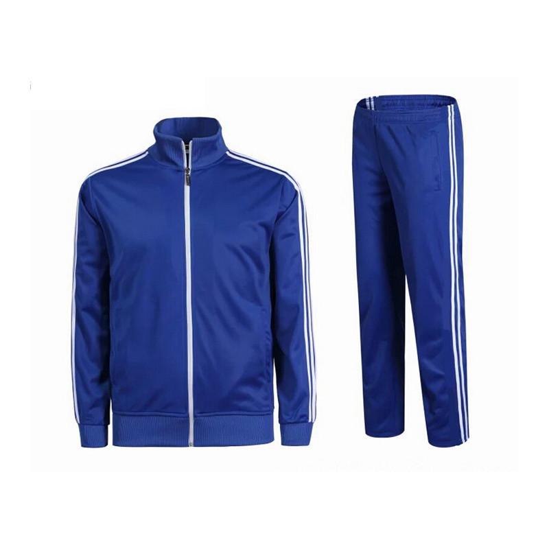 z001运动户外足球光板长袖出场服训练服秋冬空白篮球夹克外套成人儿童
