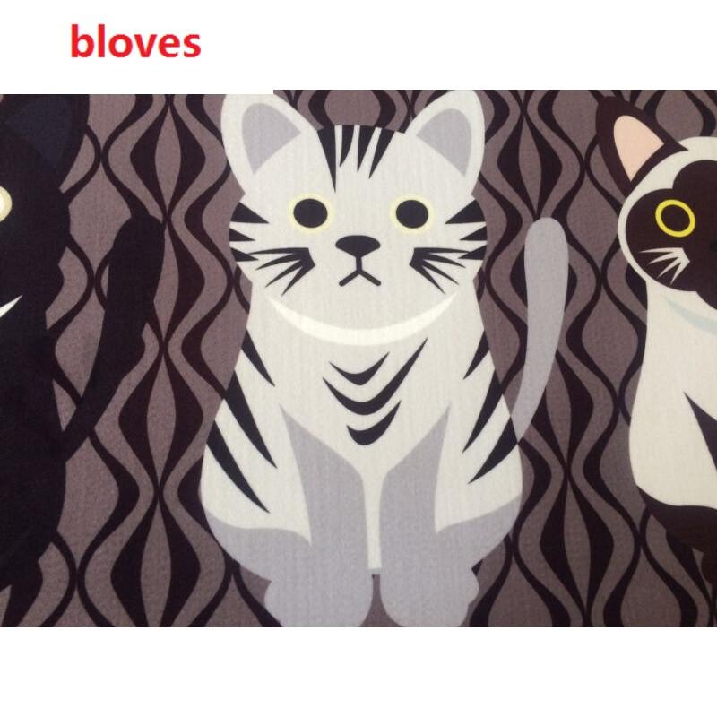 bloves-个性卡通可爱猫咪厨房长方形小地毯防滑卧室床边床前地垫图案
