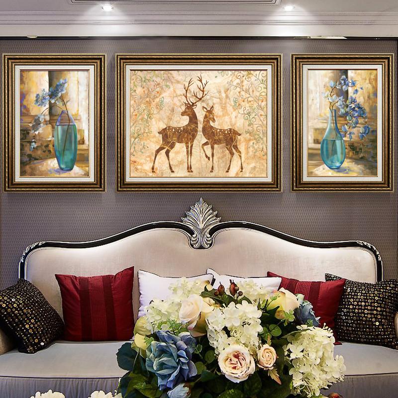 欧式装饰画客厅沙发背景墙装饰简欧风格家居墙壁装饰玄关走廊 挂画图片
