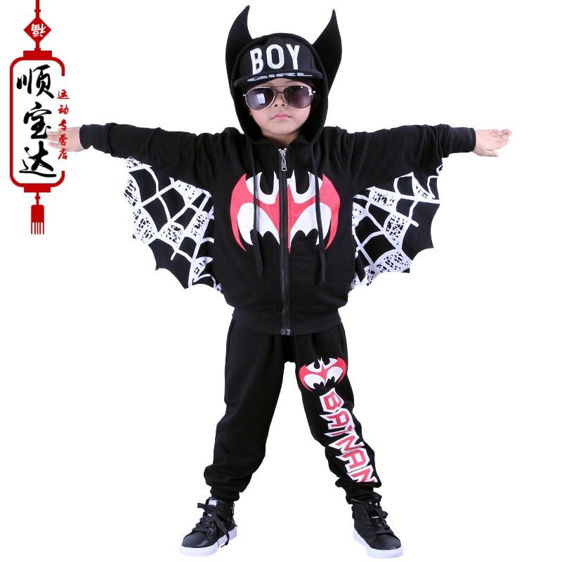 万圣节儿童表演服装幼儿园走秀演出服男童蝙蝠侠套装cosplay服装 150c图片