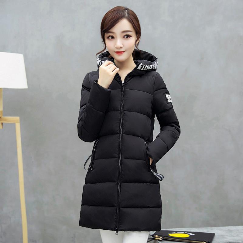 庄菲2017秋冬女装新款可爱软妹冬季外套中长款棉衣保暖韩版棉服 xl