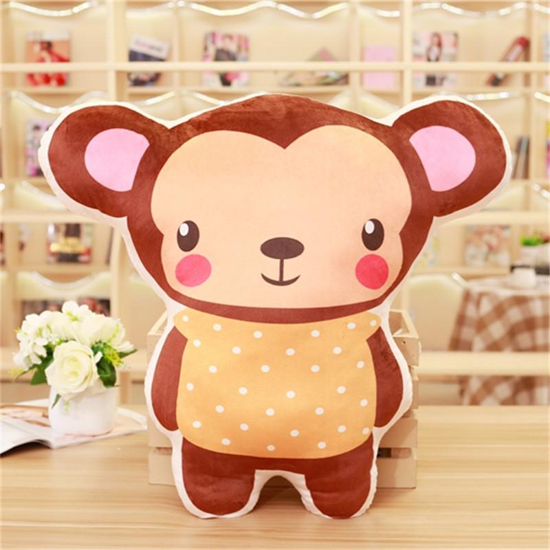 可爱动物城系列抱枕儿童老虎狮子毛绒玩具沙发靠垫礼物_5 大号(具体见