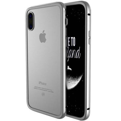 苹果x手机壳金属边框 透明钢化玻璃后盖iphonex保护壳