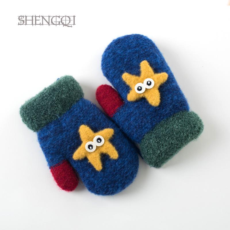 儿童手套冬天宝宝手套冬季1-4岁小童可爱小孩男童女童加绒保暖_1 手指