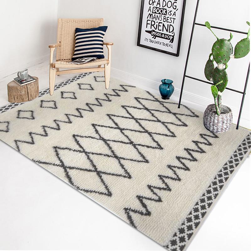 北欧风地毯客厅茶几现代简约几何超柔卧室沙发床边毯家用 200*290cm