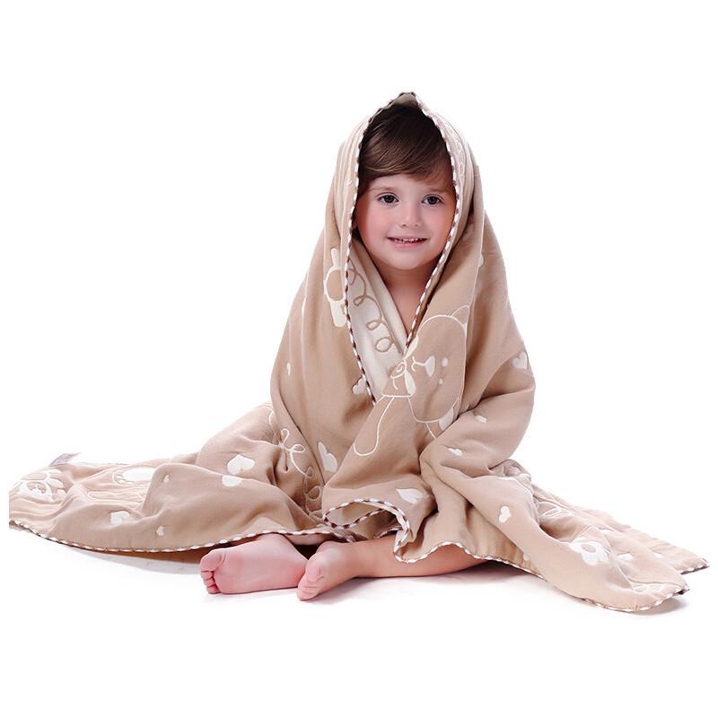 c婴儿浴巾纯棉纱布吸水新生儿盖毯洗澡婴儿童专用宝宝浴巾裹bz333_4