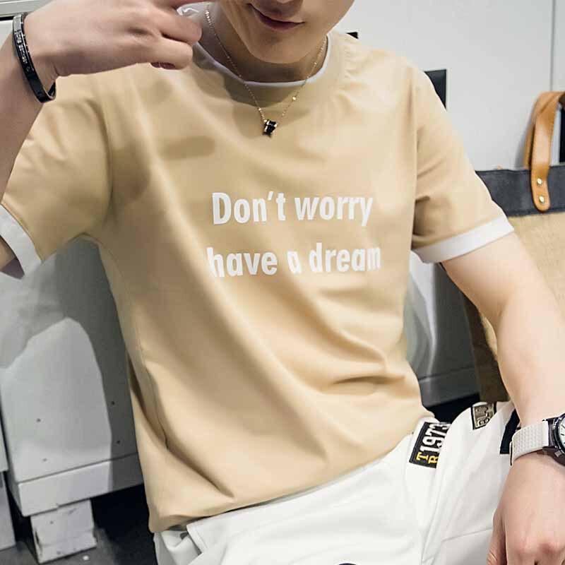 808新款学生夏季初中T恤韩版男士高中短袖14高中科技观后感展图片