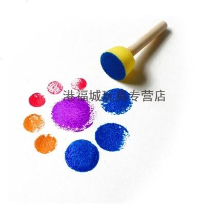 幼儿园拓印海绵画刷笔手指画颜料海绵印章滚轮儿童绘画涂鸦工具 4只装