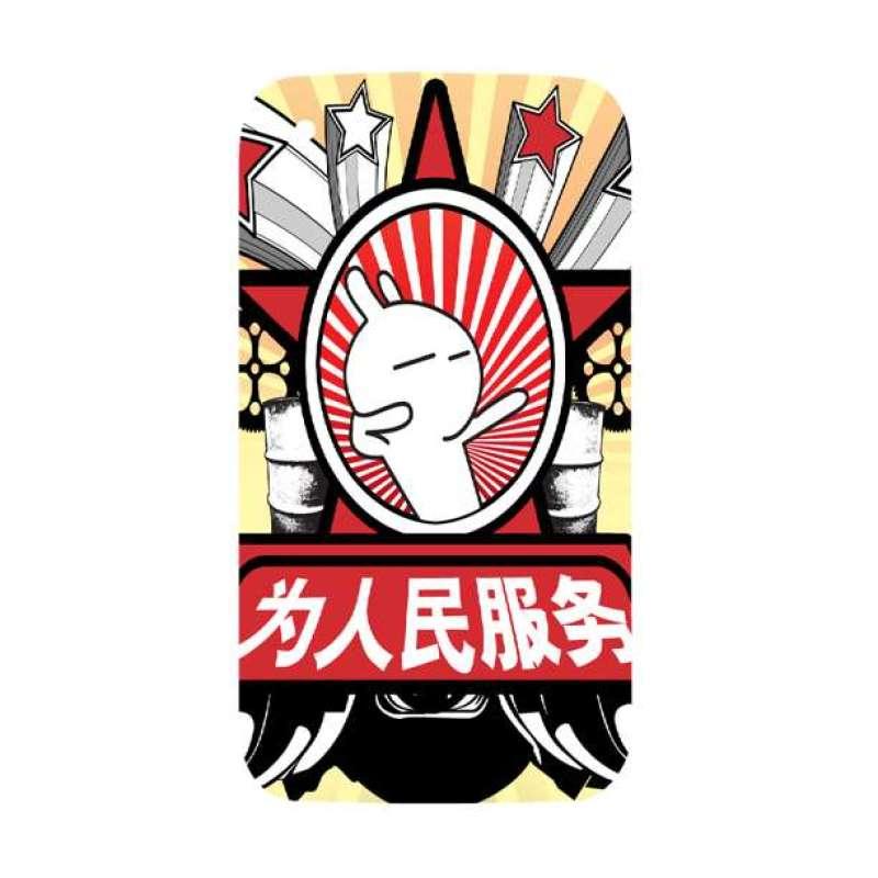 手机工坊保护壳iphone3gs(为人民服务)彩绘图片